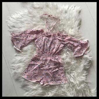 Flower Jumpsuit Pink