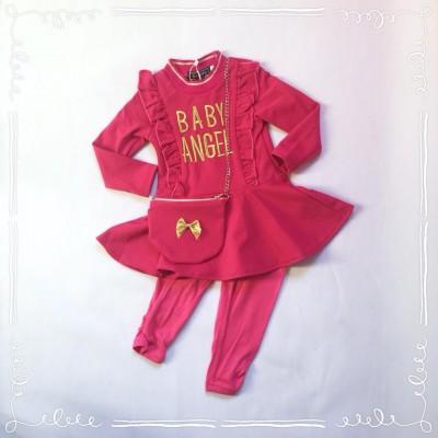 Baby Angel set Fuchsia