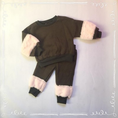 Comfy suit fur Taupe