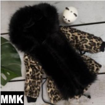Fake Fur Leopard Black