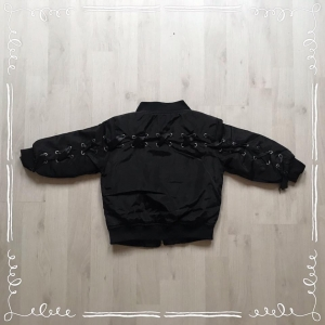 Bomber Jacket Black LACE