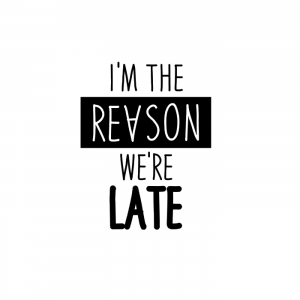 I'm the reason were late