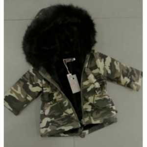 Fake Fur Camo Black